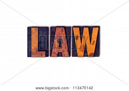 Law Concept Isolated Letterpress Type