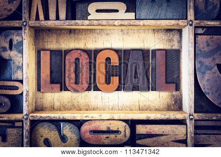 Local Concept Letterpress Type