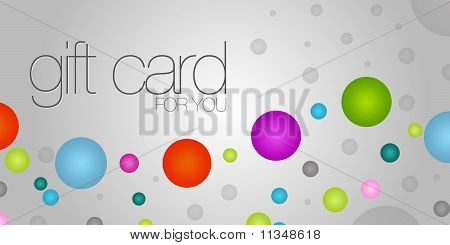 Colorful Gift Card