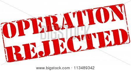Rubber stamp with text operation rejected inside vector illustration