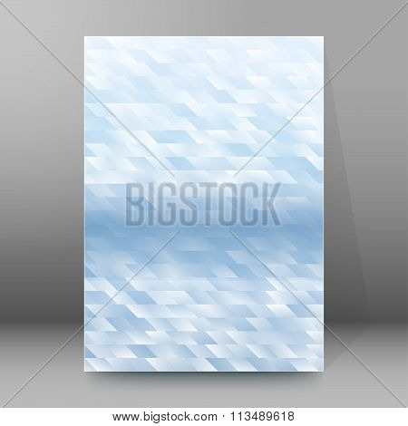 Light Blue Mosaic Cover Page Brochure Background