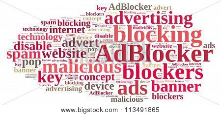 Word Cloud On Ad Blockers.
