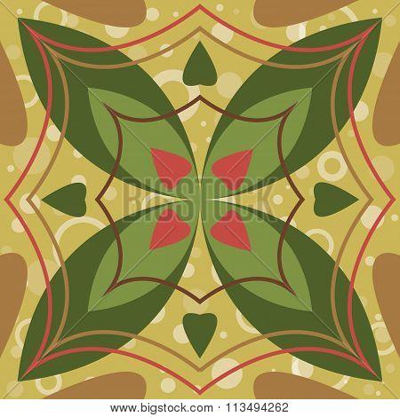 Vector seamless tile pattern.