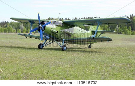 Biplane An-2 (antonov)  At The Airport