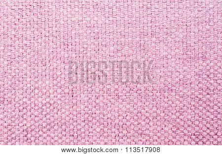 Closeup Pink Fabric At Sofa Texture Background