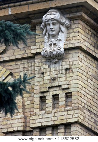 Architectural Decorative Element - Head Of Woman