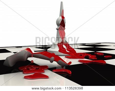 The killed bishop. Chess piece
