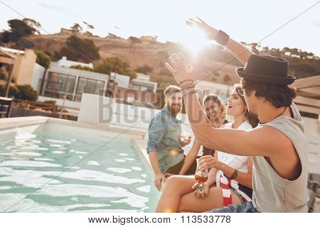 Multiracial Friends Having Fun During Party