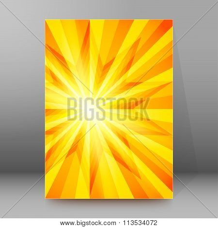 Sharp Sun Rays Cover Page Brochure Background