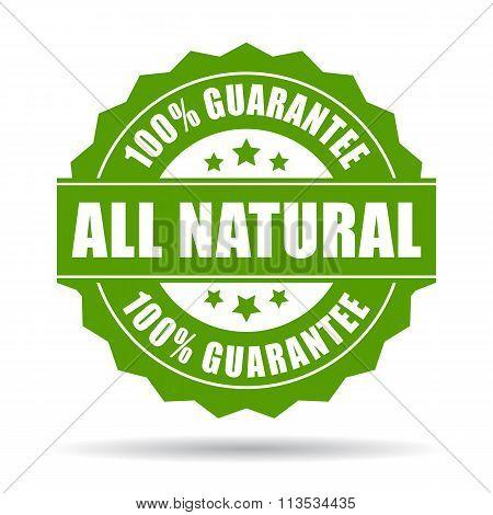 All natural guarantee icon
