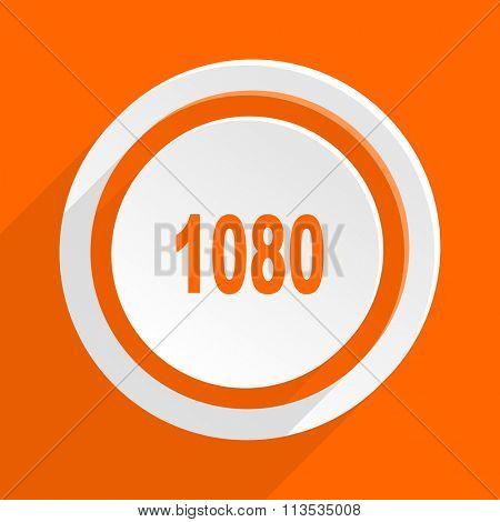 1080 orange flat design modern icon for web and mobile app