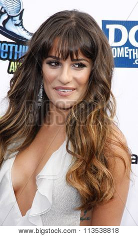 Lea Michele at the 2012 Do Something Awards held at the Barker Hangar in Los Angeles, USA on August 19, 2012.