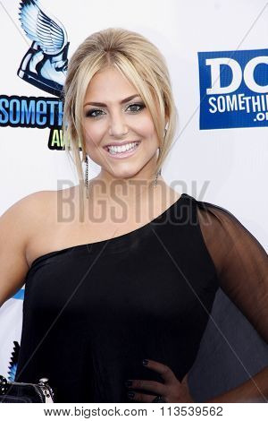 Cassie Scerbo at the 2012 Do Something Awards held at the Barker Hangar in Los Angeles, USA on August 19, 2012.