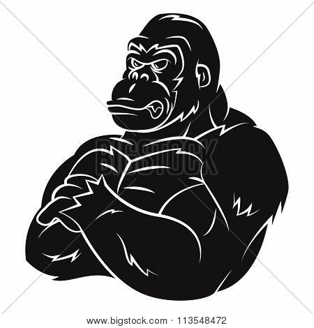 Gorilla Strong Mascot Tattoo