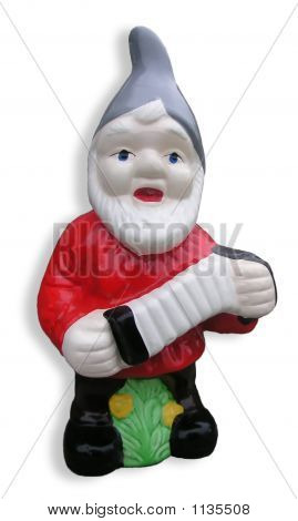 Garden Gnome With An Accordion