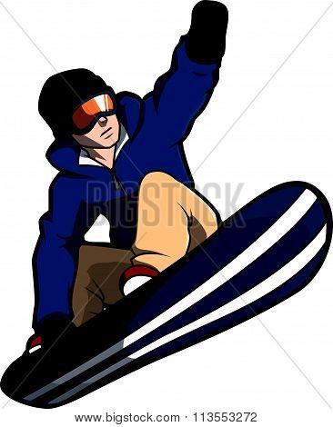snow boarder design vector illustration design eps 10
