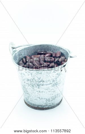 Red Kidney Bean Isolated On White Background