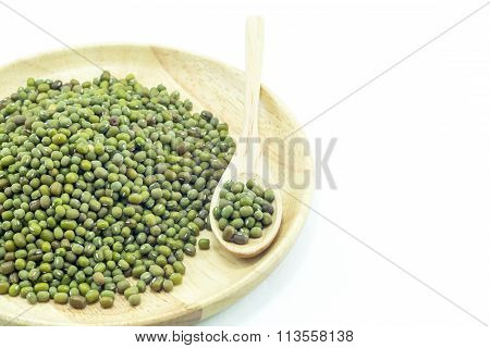 Group Of Green Nut Isolated On White Background