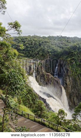 Barron Falls In The Wet A