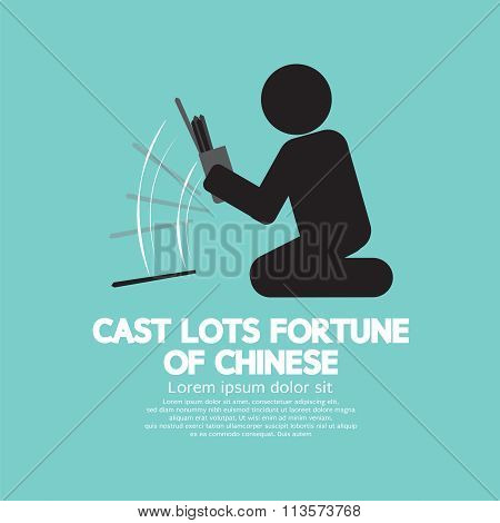 Cast Lots Fortune Of Chinese.