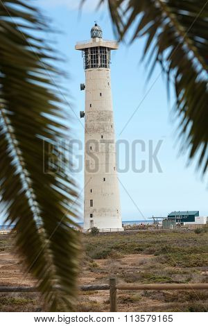Lighthouse on Playa del Matorral Jandia Morro Jable Fuerteventura Spain