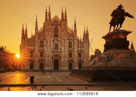 View Of Duomo At Sunrise