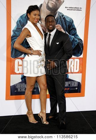 Kevin Hart and Eniko Parrish at the Los Angeles premiere of 'Get Hard' held at the TCL Chinese Theater IMAX in Hollywood, USA on March 25, 2015.
