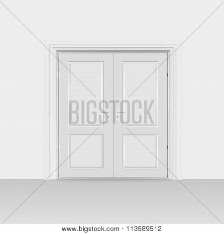 Interior Doors Hinged Bivalve, Swings Door