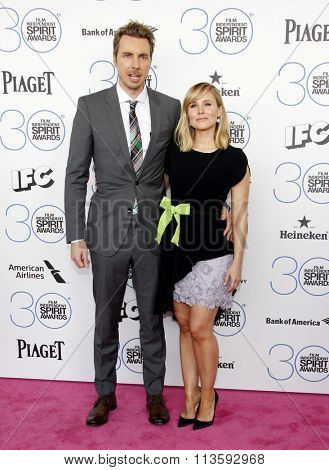 Kristen Bell and Dax Shepard at the 2015 Film Independent Spirit Awards held at the Santa Monica Beach in Los Angeles, USA on February 21, 2015.