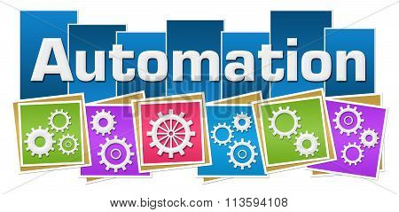 Automation Colorful Squares Gears Bottom