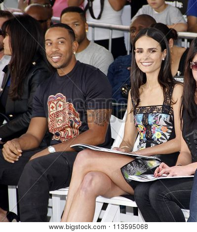 Ludacris and Jordana Brewster at the Vin Diesel Immortalized With Hand And Footprint Ceremony held at the TCL Chinese Theater IMAX in Los Angeles, USA on April 1, 2015.