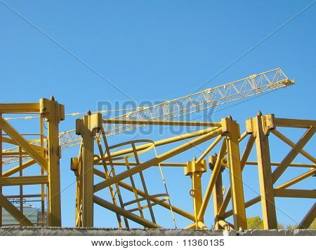 Sections of the crane