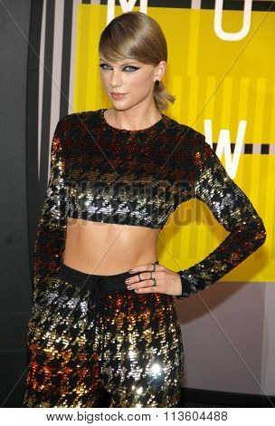 Taylor Swift at the 2015 MTV Video Music Awards held at the Microsoft Theatre in Los Angeles, USA on August 30, 2015.