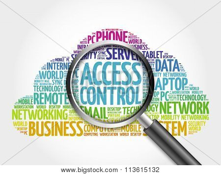 Access control word cloud
