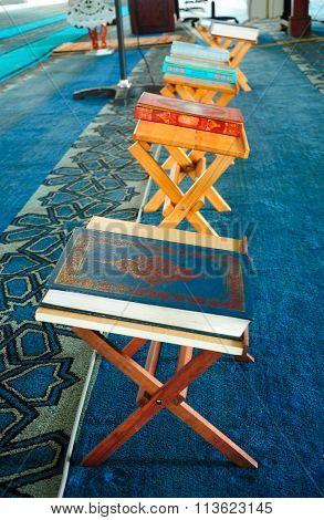 Quran and lectern