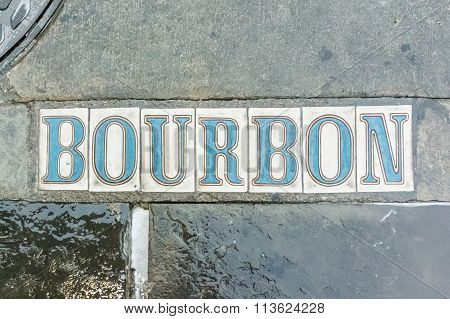 Bourbon Street In The Sidewalk