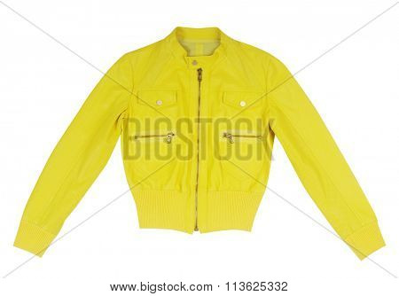 yellow jacket isolated on white background