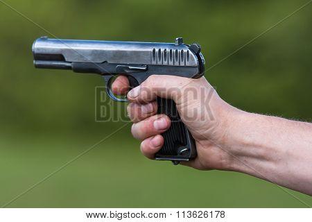 The Tt Pistol In Hand