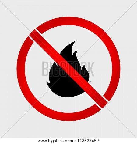 No Fire Prohibition Sign