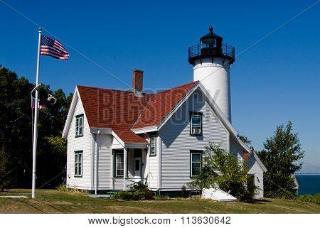 West Chop Lighthouse In Martha's Vineyard, Massachusetts