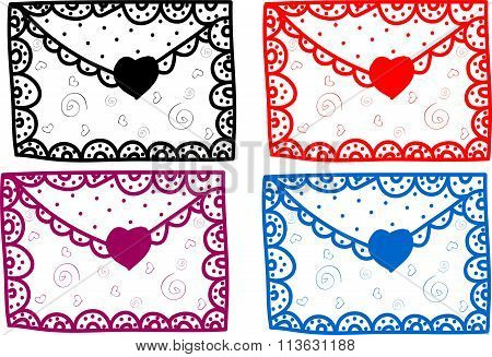 Set of love Valentine message