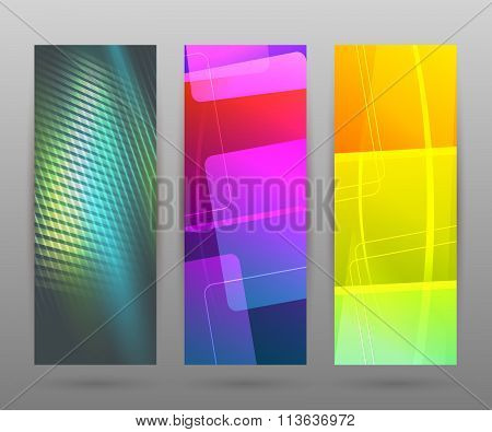 Set Vertical Banner Background Template Layout Flyer47