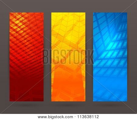Set Vertical Banner Background Template Layout Flyer51