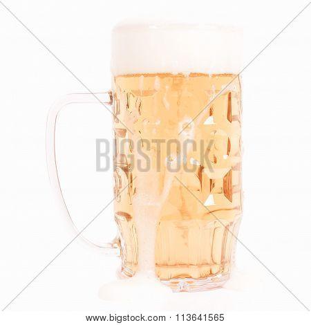Retro Looking German Beer Glass
