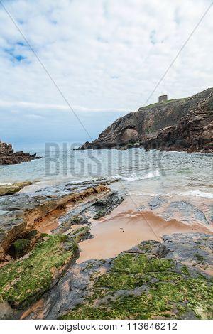 Santa Justa Beach in Tagle, Cantabria, Spain