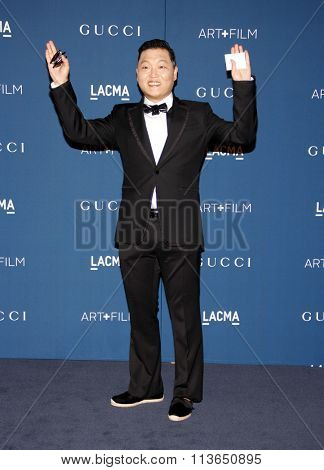 PSY at the LACMA 2013 Art + Film Gala Honoring Martin Scorsese And David Hockney Presented By Gucci held at the LACMA in Los Angeles, USA on November 2, 2013.