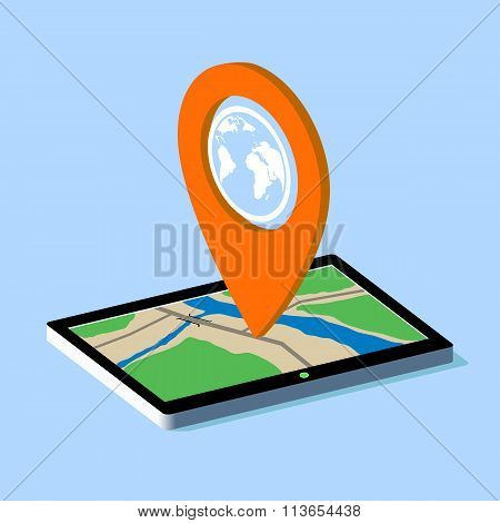 Route Map On The Tablet