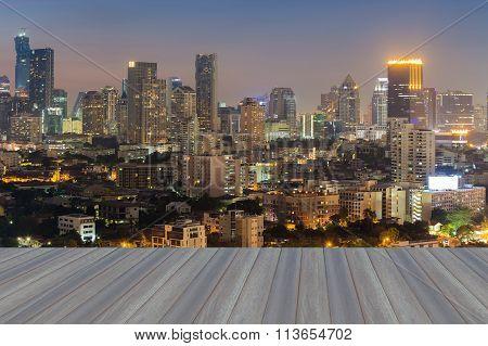 City skyline background aerial view