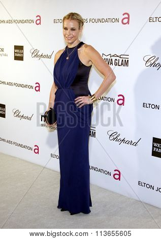 Chelsea Handler at the 21st Annual Elton John AIDS Foundation Academy Awards Viewing Party held at the West Hollywood Park in Los Angeles, USA on February 24, 2013.