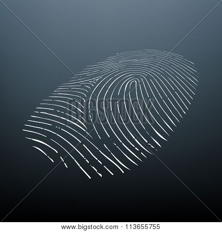 Biometric Data. Stock Illustration.